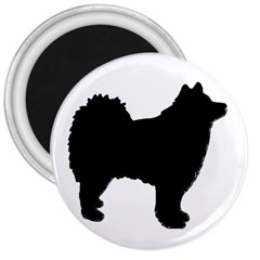 Finnish Lapphund Silhouette Black 3  Magnets