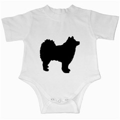 Finnish Lapphund Silhouette Black Infant Creepers