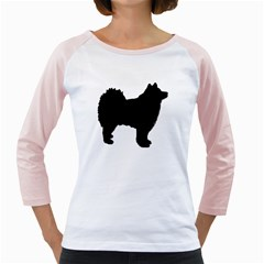 Finnish Lapphund Silhouette Black Girly Raglans
