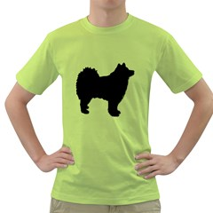 Finnish Lapphund Silhouette Black Green T-Shirt