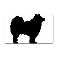 Finnish Lapphund Silhouette Black Magnet (Rectangular)