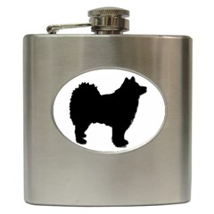Finnish Lapphund Silhouette Black Hip Flask (6 oz)