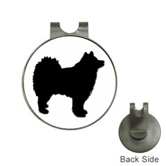 Finnish Lapphund Silhouette Black Hat Clips with Golf Markers