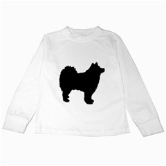 Finnish Lapphund Silhouette Black Kids Long Sleeve T-Shirts