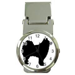 Finnish Lapphund Silhouette Black Money Clip Watches
