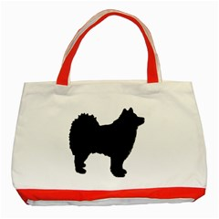 Finnish Lapphund Silhouette Black Classic Tote Bag (Red)