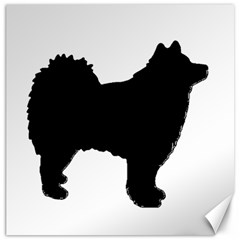 Finnish Lapphund Silhouette Black Canvas 12  x 12