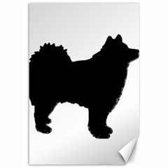 Finnish Lapphund Silhouette Black Canvas 12  x 18