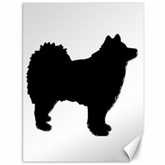 Finnish Lapphund Silhouette Black Canvas 36  x 48