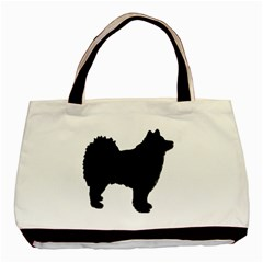 Finnish Lapphund Silhouette Black Basic Tote Bag (Two Sides)