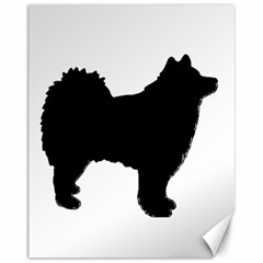 Finnish Lapphund Silhouette Black Canvas 11  x 14