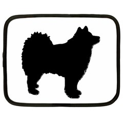 Finnish Lapphund Silhouette Black Netbook Case (Large)