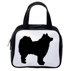 Finnish Lapphund Silhouette Black Classic Handbags (One Side)