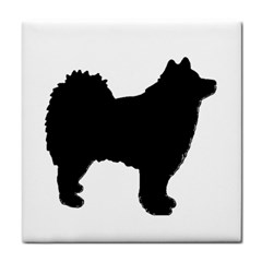 Finnish Lapphund Silhouette Black Face Towel