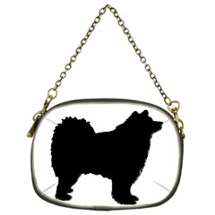 Finnish Lapphund Silhouette Black Chain Purses (One Side)