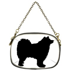 Finnish Lapphund Silhouette Black Chain Purses (Two Sides)