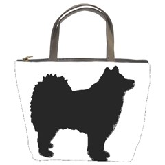 Finnish Lapphund Silhouette Black Bucket Bags