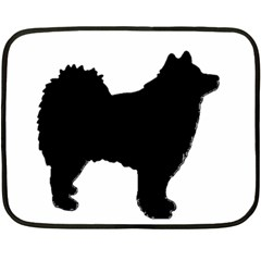 Finnish Lapphund Silhouette Black Fleece Blanket (Mini)