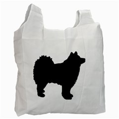 Finnish Lapphund Silhouette Black Recycle Bag (One Side)