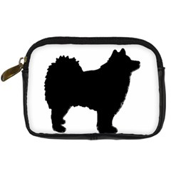 Finnish Lapphund Silhouette Black Digital Camera Cases