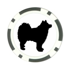 Finnish Lapphund Silhouette Black Poker Chip Card Guard (10 pack)