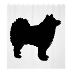 Finnish Lapphund Silhouette Black Shower Curtain 66  x 72  (Large)