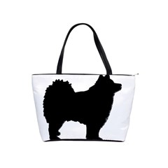 Finnish Lapphund Silhouette Black Shoulder Handbags