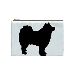 Finnish Lapphund Silhouette Black Cosmetic Bag (Medium)