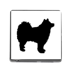 Finnish Lapphund Silhouette Black Memory Card Reader (Square)