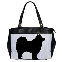 Finnish Lapphund Silhouette Black Office Handbags