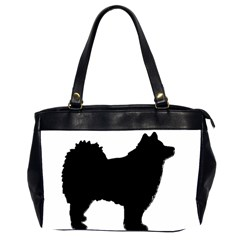 Finnish Lapphund Silhouette Black Office Handbags (2 Sides)