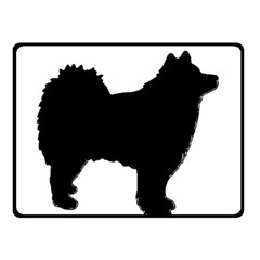 Finnish Lapphund Silhouette Black Fleece Blanket (Small)