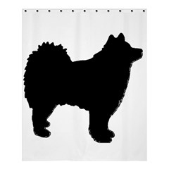 Finnish Lapphund Silhouette Black Shower Curtain 60  x 72  (Medium)