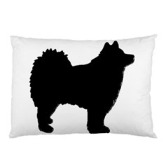Finnish Lapphund Silhouette Black Pillow Case (Two Sides)
