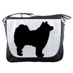 Finnish Lapphund Silhouette Black Messenger Bags
