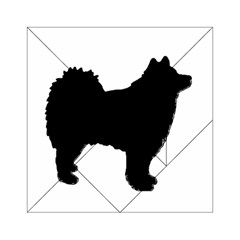Finnish Lapphund Silhouette Black Acrylic Tangram Puzzle (6  x 6 )