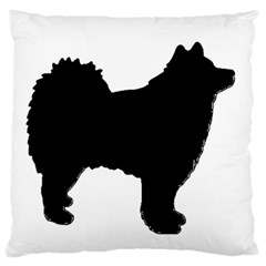 Finnish Lapphund Silhouette Black Large Cushion Case (Two Sides)