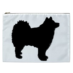 Finnish Lapphund Silhouette Black Cosmetic Bag (XXL)
