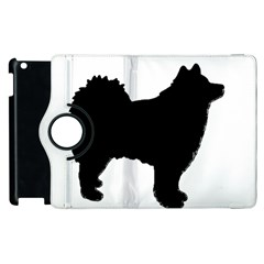 Finnish Lapphund Silhouette Black Apple iPad 3/4 Flip 360 Case