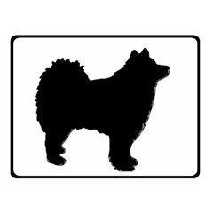 Finnish Lapphund Silhouette Black Double Sided Fleece Blanket (Small)