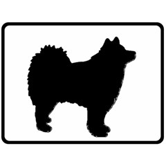 Finnish Lapphund Silhouette Black Double Sided Fleece Blanket (Large)