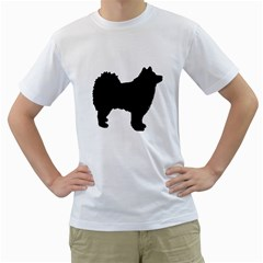 Finnish Lapphund Silhouette Black Men s T-Shirt (White)
