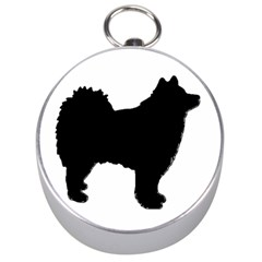 Finnish Lapphund Silhouette Black Silver Compasses