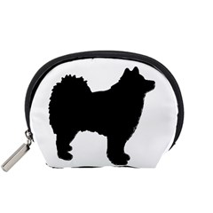 Finnish Lapphund Silhouette Black Accessory Pouches (Small)