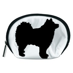 Finnish Lapphund Silhouette Black Accessory Pouches (Medium)