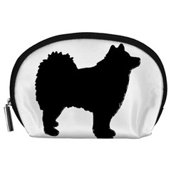 Finnish Lapphund Silhouette Black Accessory Pouches (Large)