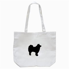 Finnish Lapphund Silhouette Black Tote Bag (White)