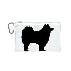 Finnish Lapphund Silhouette Black Canvas Cosmetic Bag (S)