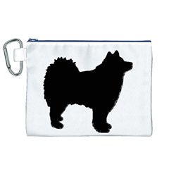Finnish Lapphund Silhouette Black Canvas Cosmetic Bag (XL)