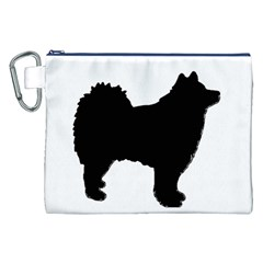 Finnish Lapphund Silhouette Black Canvas Cosmetic Bag (XXL)